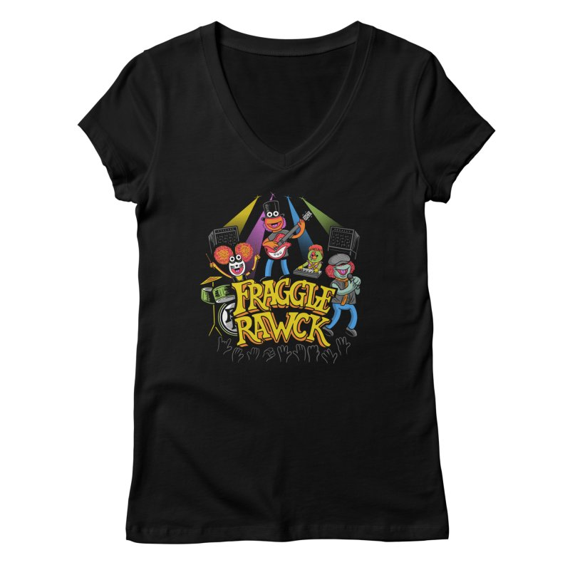 Fraggle RAWK Women's Regular V-Neck by Made With Awesome