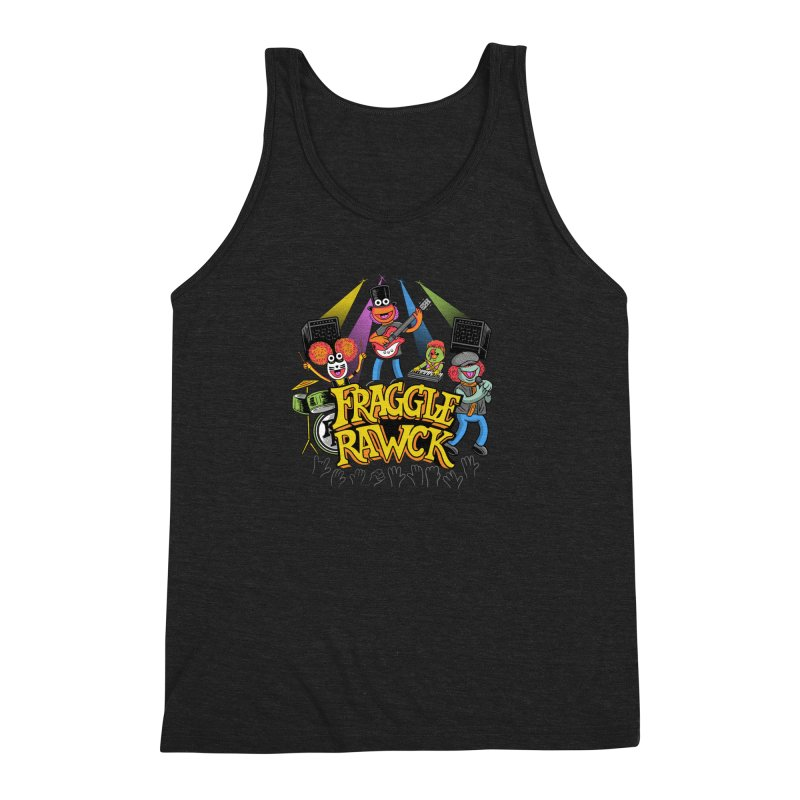 Fraggle RAWK Men's Triblend Tank by Made With Awesome