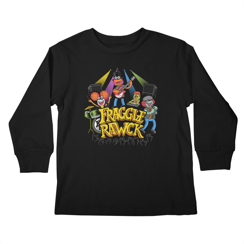 Fraggle RAWK Kids Longsleeve T-Shirt by Made With Awesome