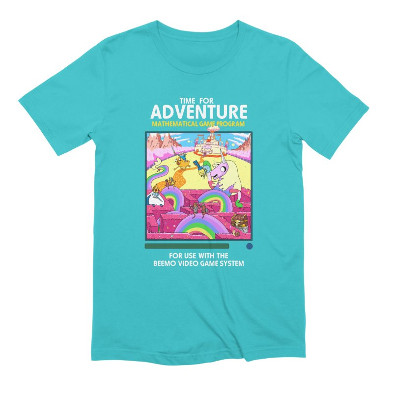 Time For Adventure in Men's Extra Soft T-Shirt Pacific Blue by Made With Awesome