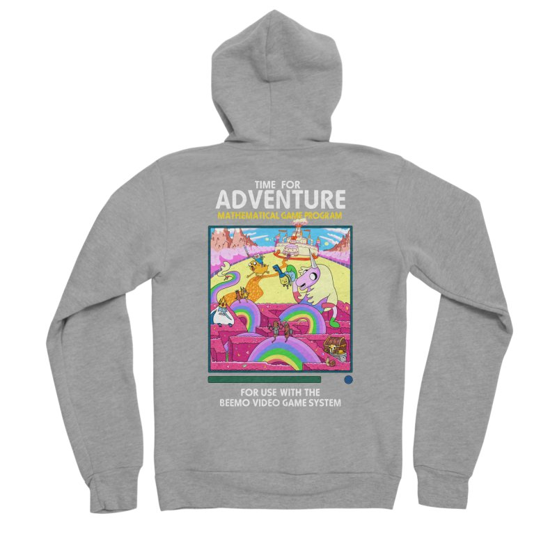 Time For Adventure Men's Sponge Fleece Zip-Up Hoody by Made With Awesome