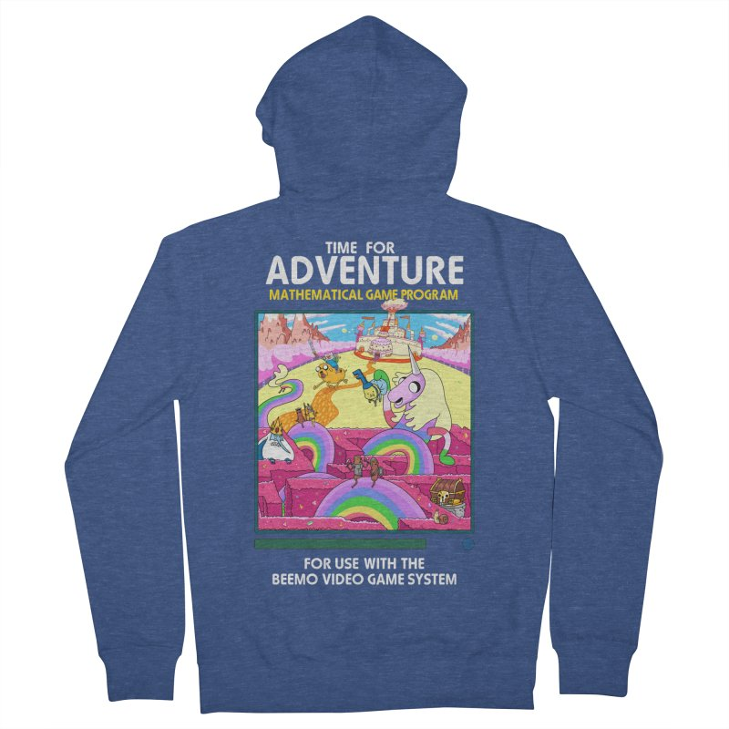 Time For Adventure Men's French Terry Zip-Up Hoody by Made With Awesome
