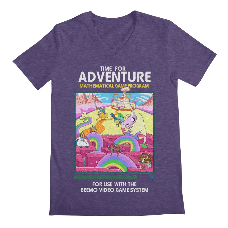 Time For Adventure Men's Regular V-Neck by Made With Awesome