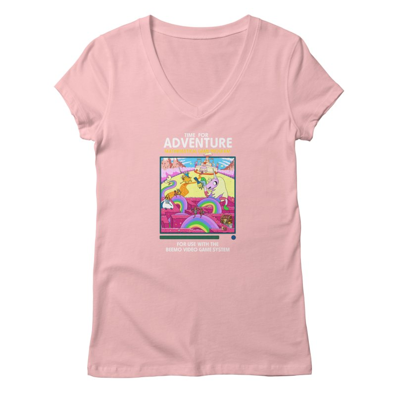 Time For Adventure Women's V-Neck by Made With Awesome