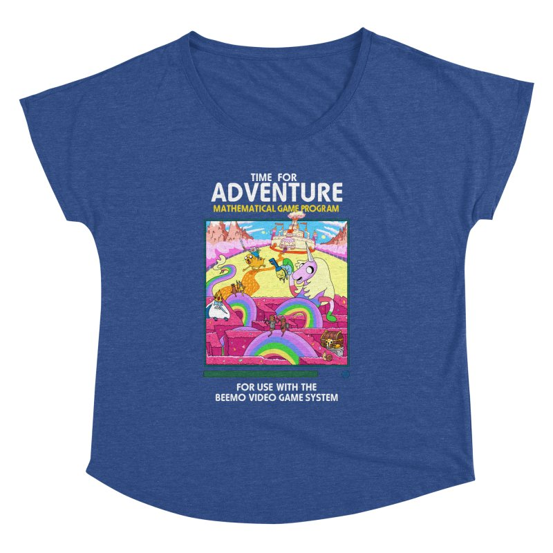 Time For Adventure Women's Dolman Scoop Neck by Made With Awesome