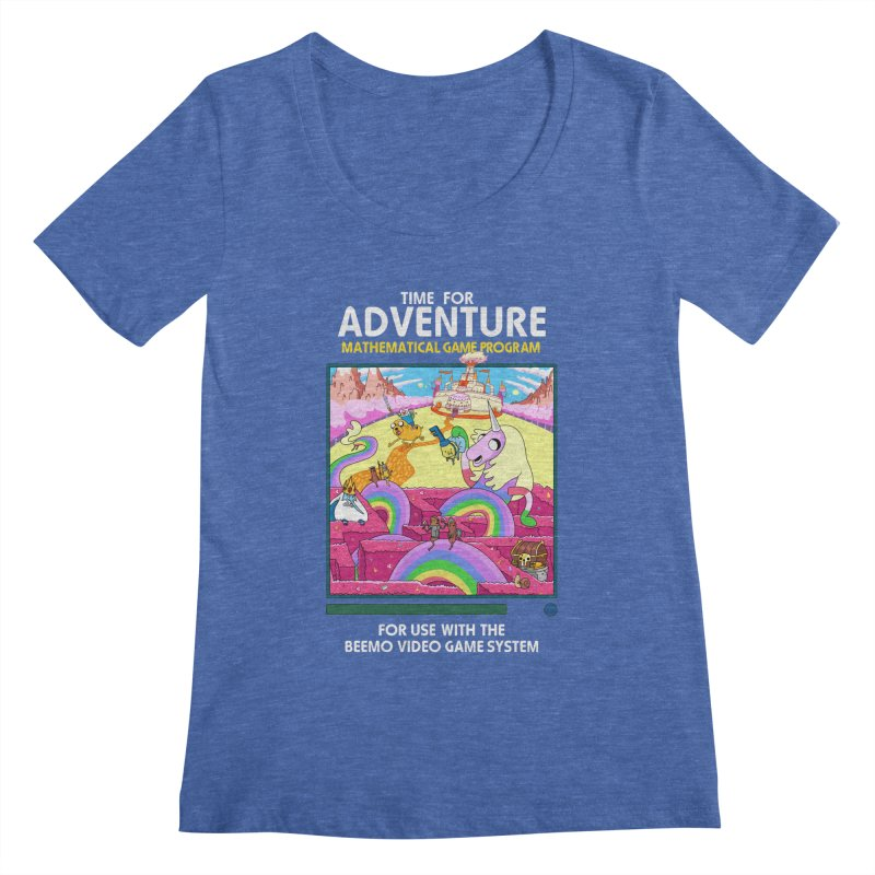 Time For Adventure Women's Regular Scoop Neck by Made With Awesome