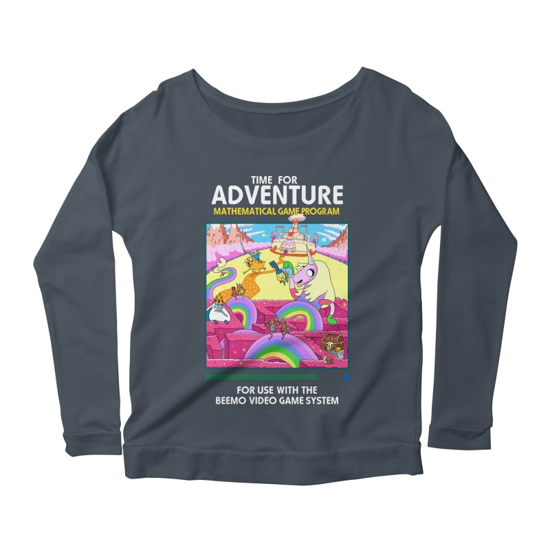 Time For Adventure Women's Scoop Neck Longsleeve T-Shirt by Made With Awesome