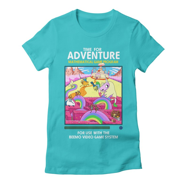 Time For Adventure Women's Fitted T-Shirt by Made With Awesome