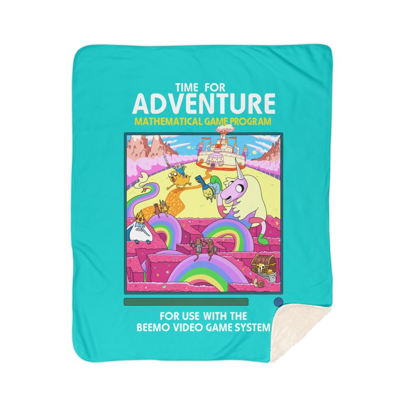 Time For Adventure Home Sherpa Blanket Blanket by Made With Awesome