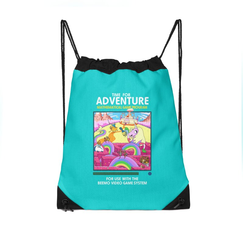 Time For Adventure Accessories Drawstring Bag Bag by Made With Awesome