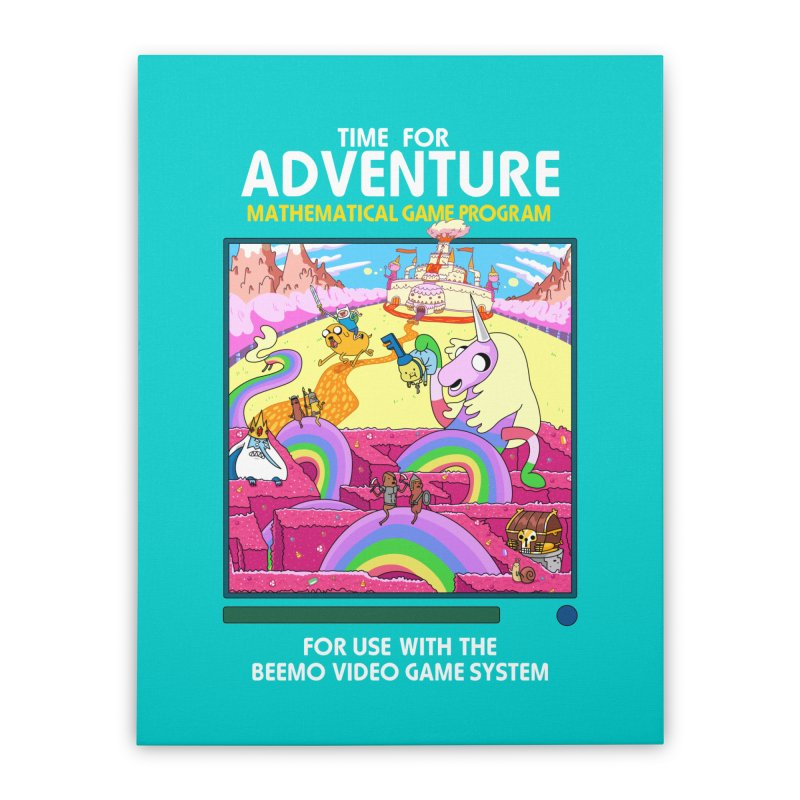 Time For Adventure Home Stretched Canvas by Made With Awesome