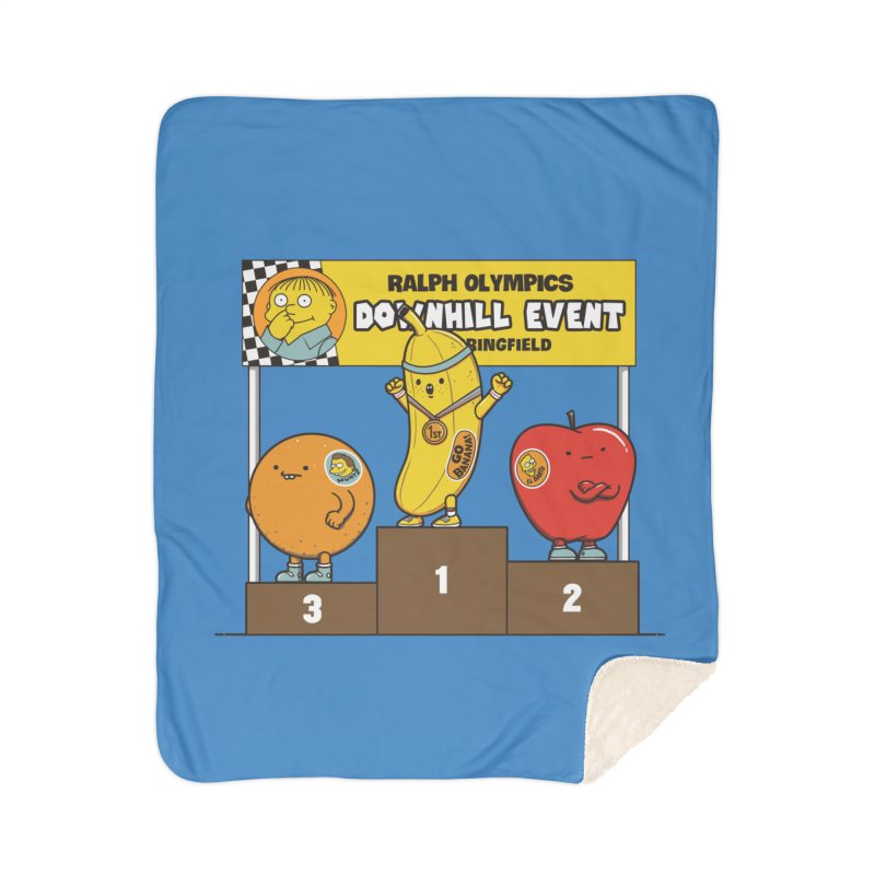 GO BANANA! Home Sherpa Blanket Blanket by Made With Awesome