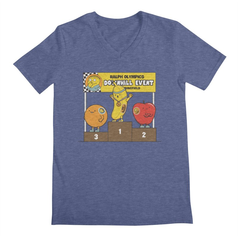 GO BANANA! Men's Regular V-Neck by Made With Awesome