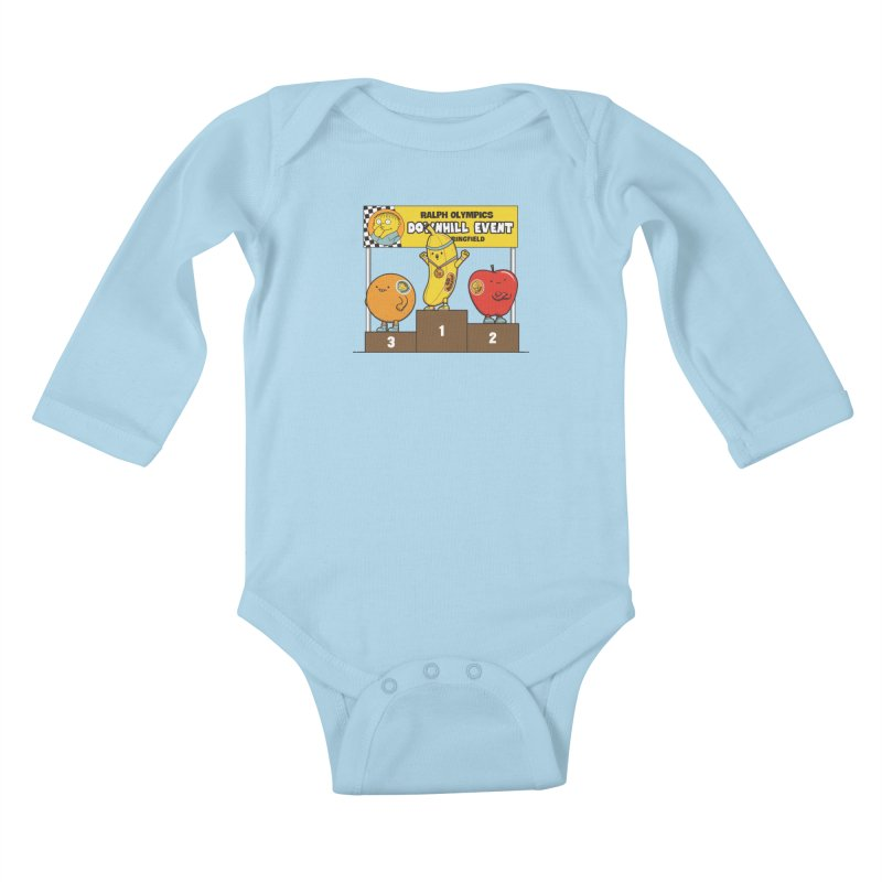 GO BANANA! Kids Baby Longsleeve Bodysuit by Made With Awesome