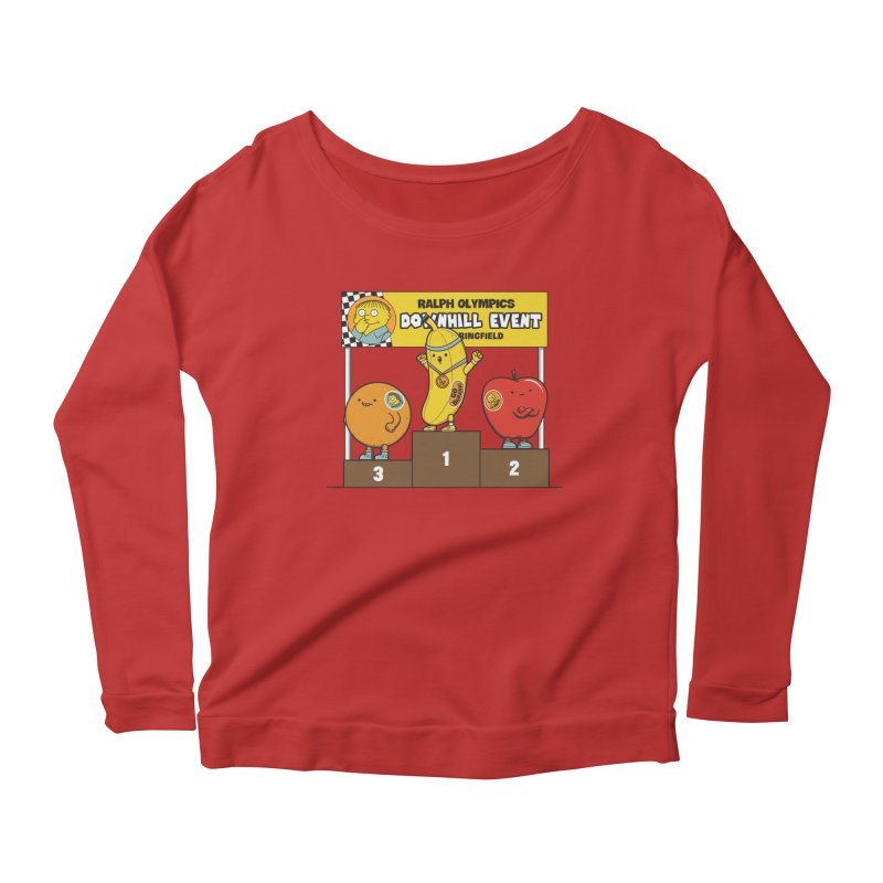 GO BANANA! Women's Scoop Neck Longsleeve T-Shirt by Made With Awesome