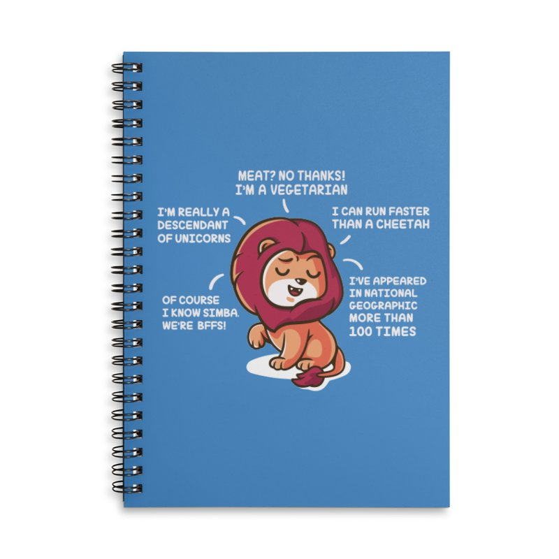 Lyin' Accessories Lined Spiral Notebook by Made With Awesome