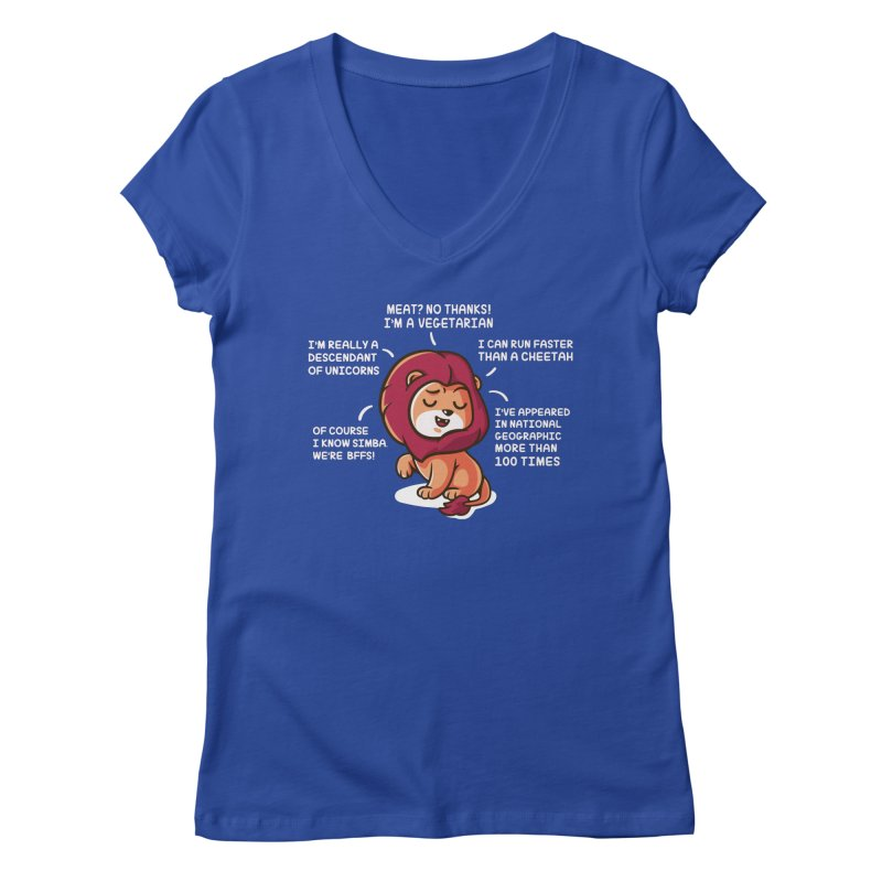 Lyin' Women's Regular V-Neck by Made With Awesome
