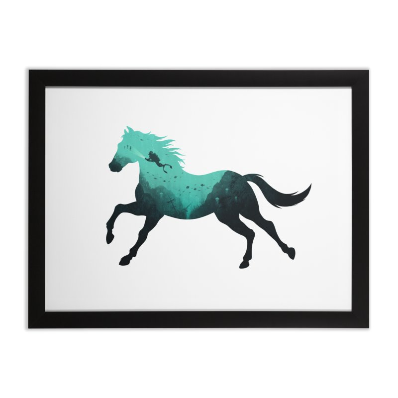Seehorse in Framed Fine Art Print Black by Made With Awesome