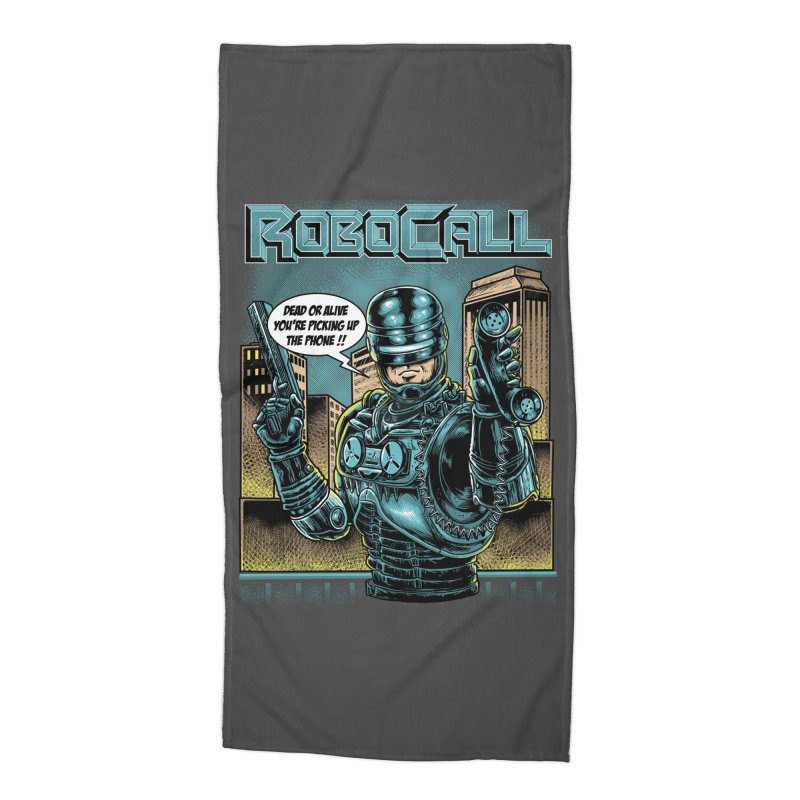 Robocall Accessories Beach Towel by Made With Awesome