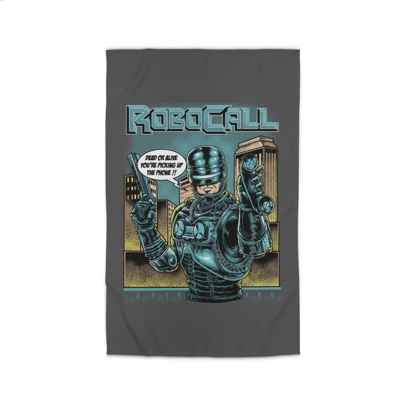 Robocall Home Rug by Made With Awesome