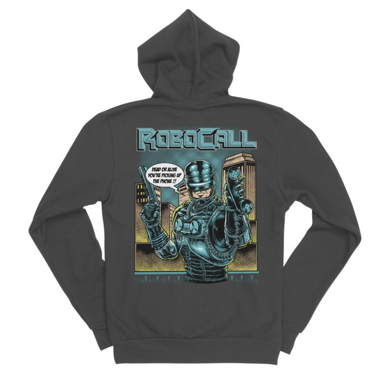 Robocall Men's Sponge Fleece Zip-Up Hoody by Made With Awesome