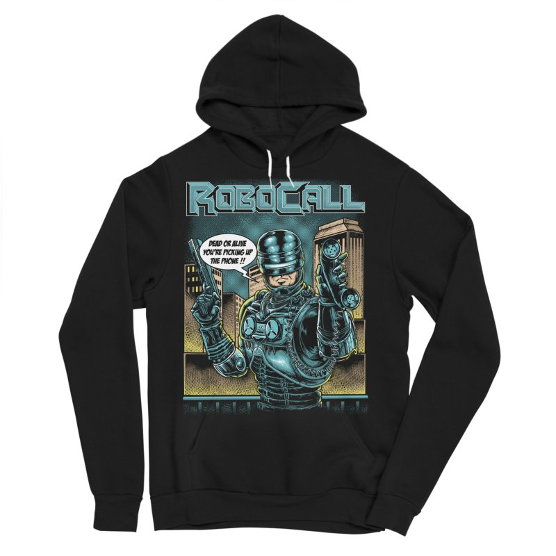 Robocall Men's Sponge Fleece Pullover Hoody by Made With Awesome