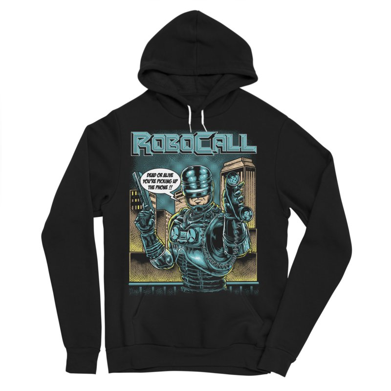 Robocall Women's Sponge Fleece Pullover Hoody by Made With Awesome
