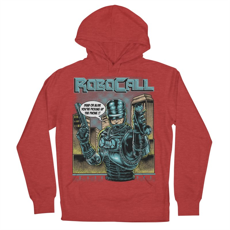 Robocall Men's French Terry Pullover Hoody by Made With Awesome
