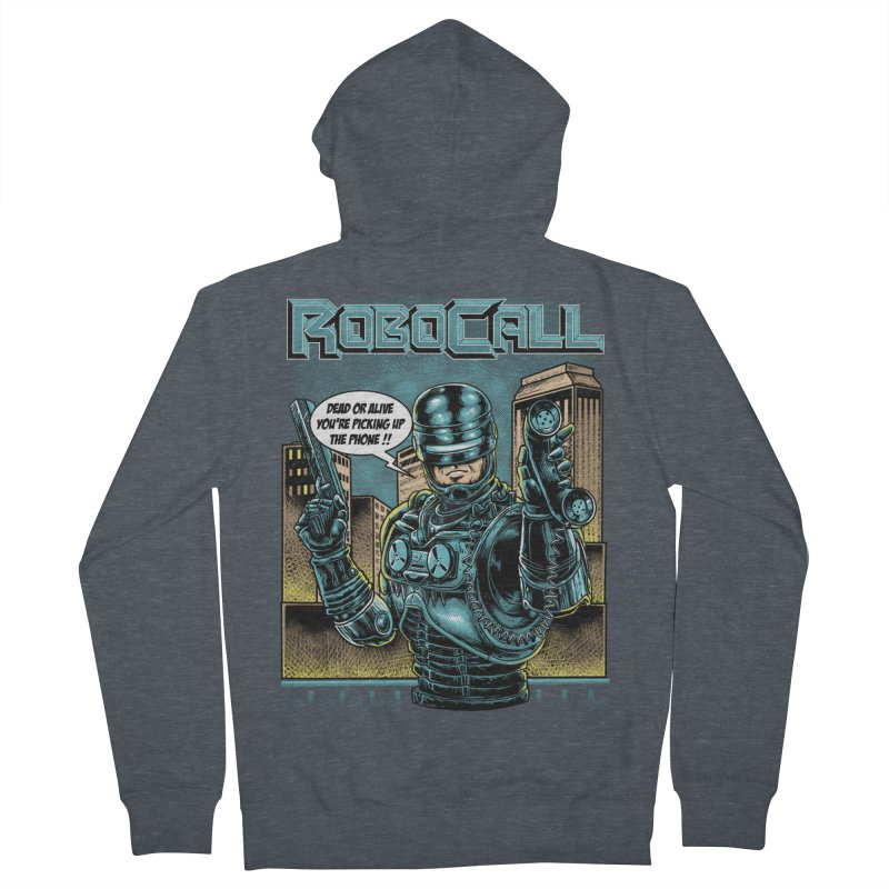 Robocall Women's French Terry Zip-Up Hoody by Made With Awesome