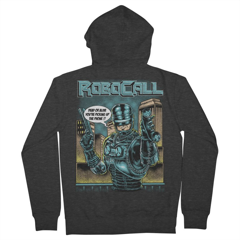 Robocall Men's French Terry Zip-Up Hoody by Made With Awesome