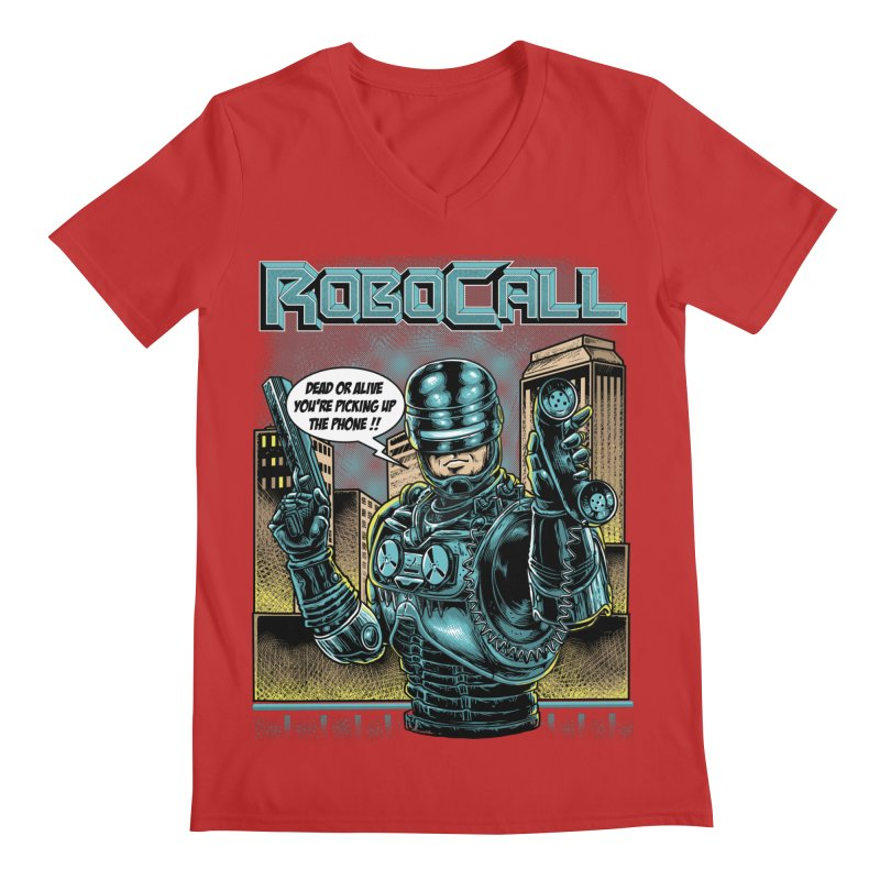Robocall Men's Regular V-Neck by Made With Awesome
