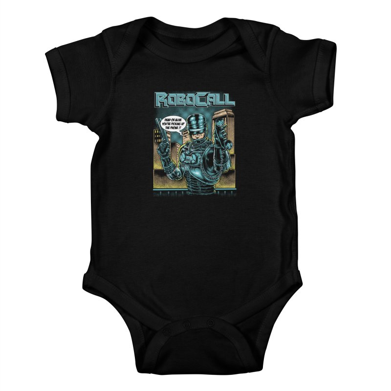 Robocall Kids Baby Bodysuit by Made With Awesome
