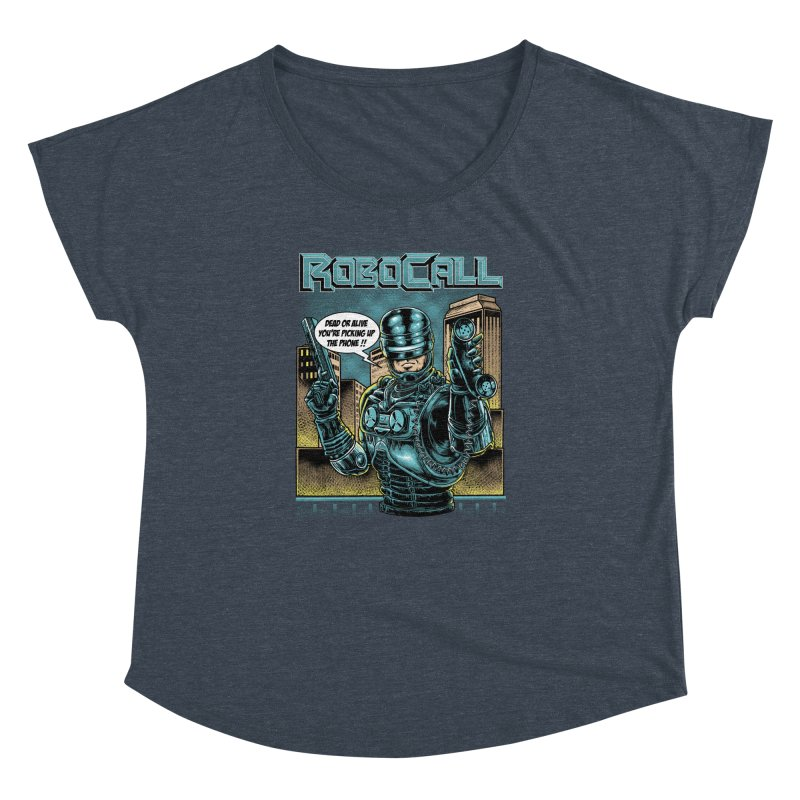 Robocall Women's Dolman Scoop Neck by Made With Awesome