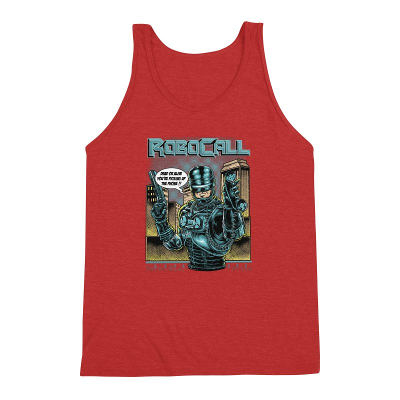 Robocall Men's Triblend Tank by Made With Awesome