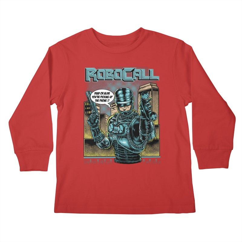 Robocall Kids Longsleeve T-Shirt by Made With Awesome
