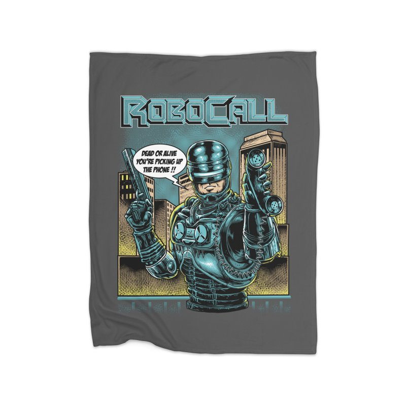 Robocall Home Fleece Blanket Blanket by Made With Awesome