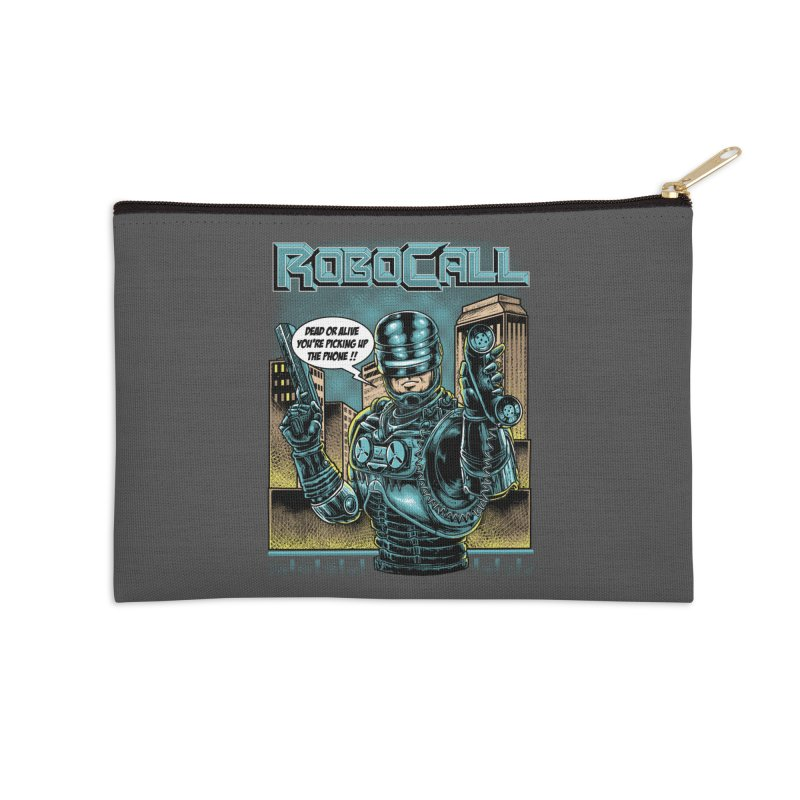 Robocall Accessories Zip Pouch by Made With Awesome