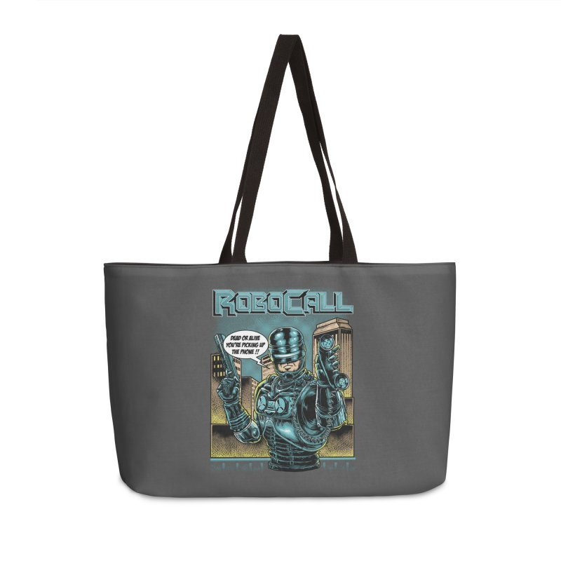 Robocall Accessories Weekender Bag Bag by Made With Awesome