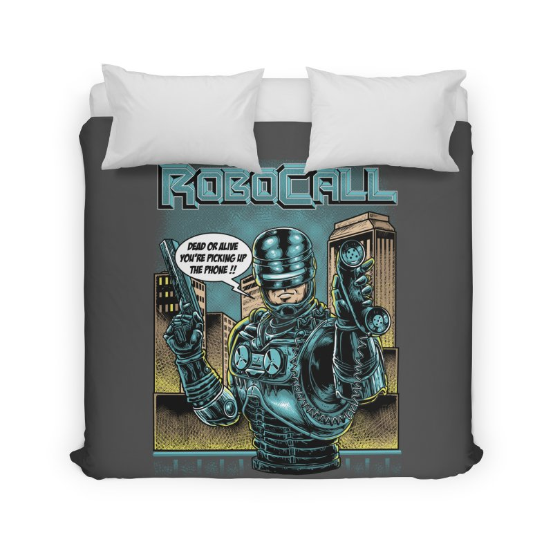 Robocall Home Duvet by Made With Awesome