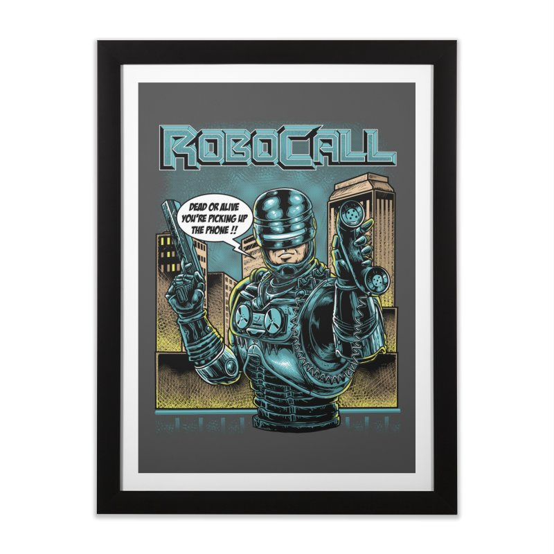 Robocall Home Framed Fine Art Print by Made With Awesome