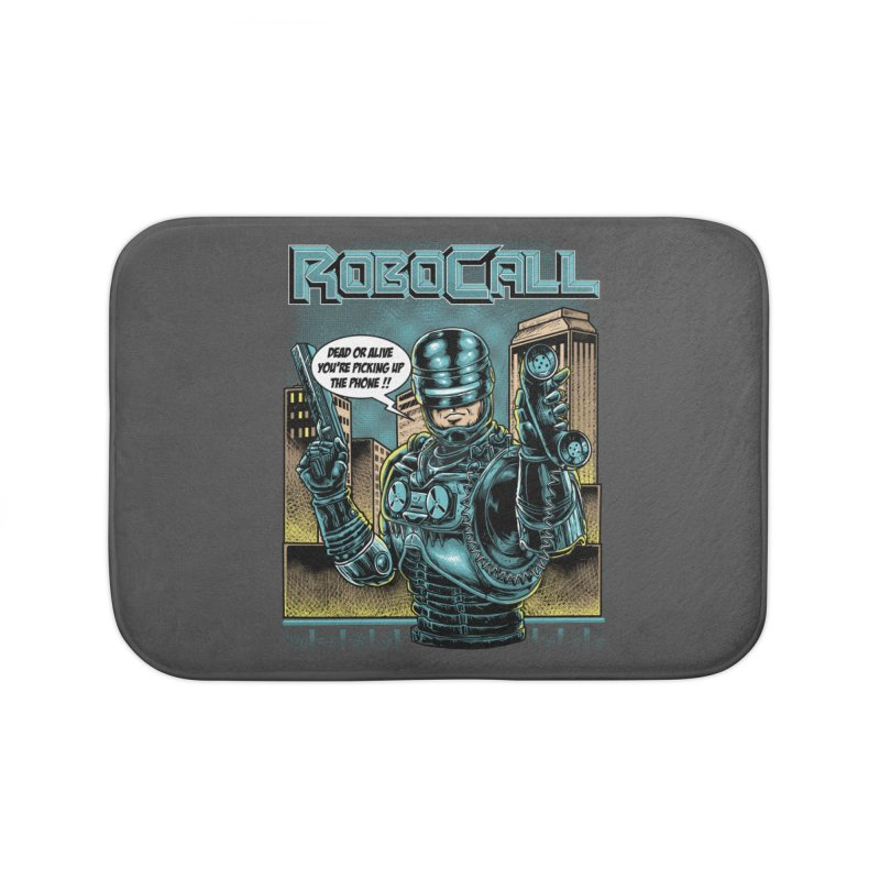 Robocall Home Bath Mat by Made With Awesome