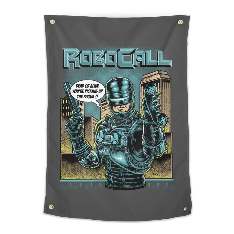 Robocall Home Tapestry by Made With Awesome