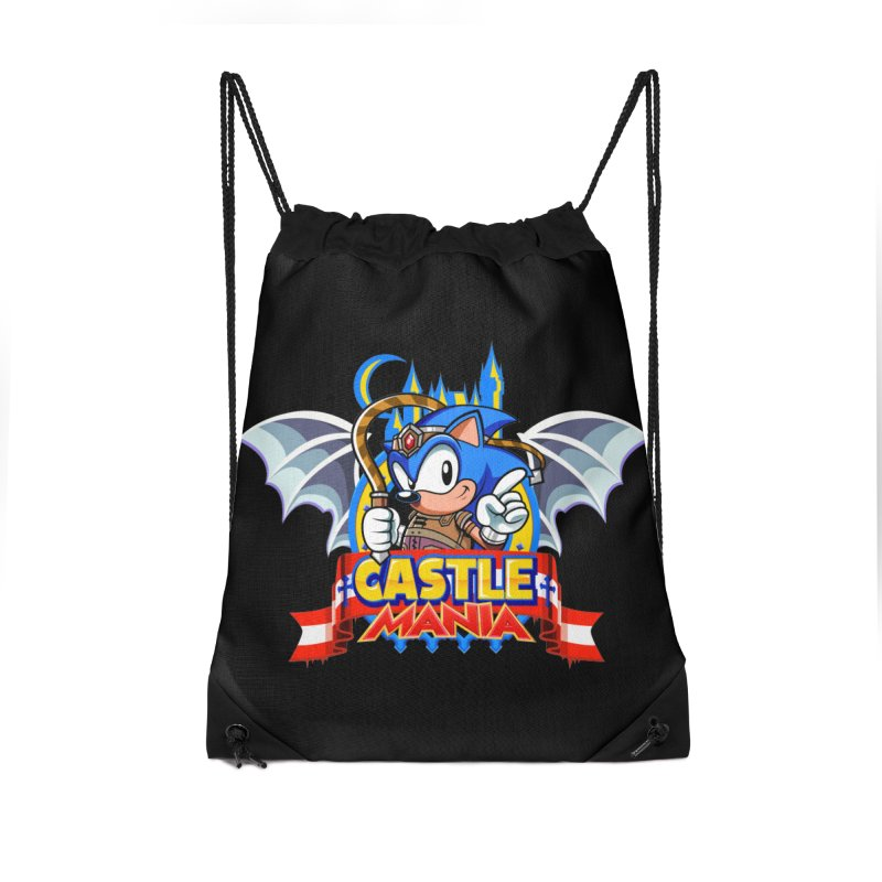 Castle Mania Accessories Drawstring Bag Bag by Made With Awesome