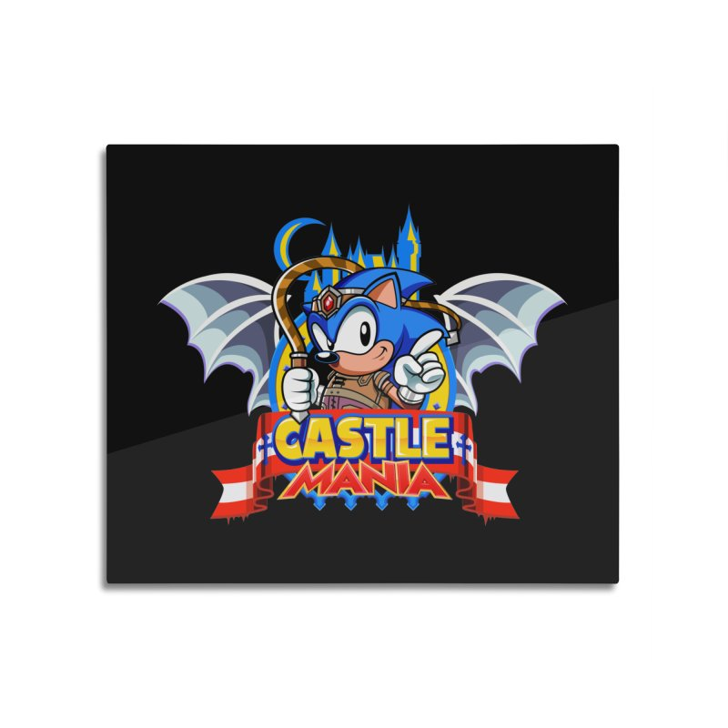 Castle Mania Home Mounted Aluminum Print by Made With Awesome