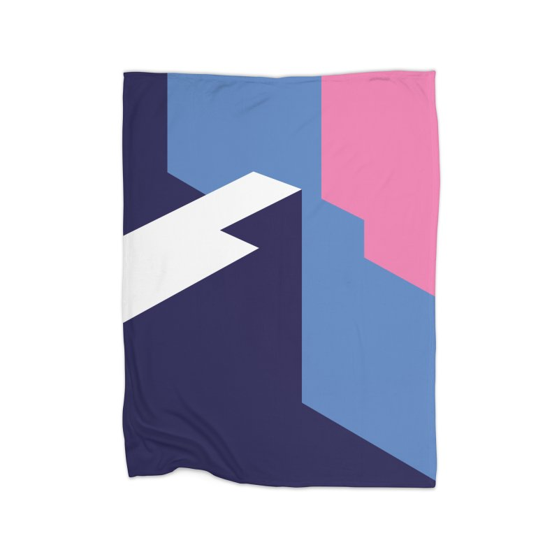 Graphic Architecture #1 Home Blanket by Madeleine Hettich Design & Illustration