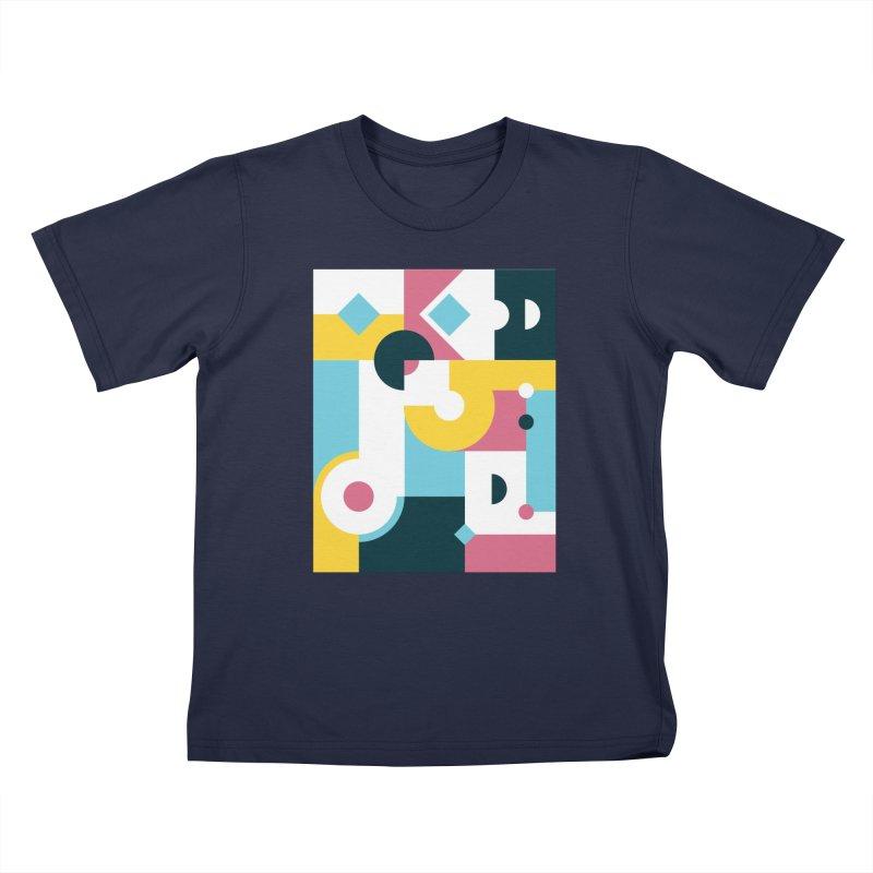 Geometric Design Series 2, Poster 2 Kids T-Shirt by Madeleine Hettich Design & Illustration