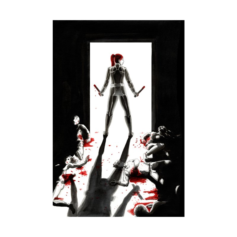 Black Widow Fan Illustration by Madeleine Hettich Design & Illustration