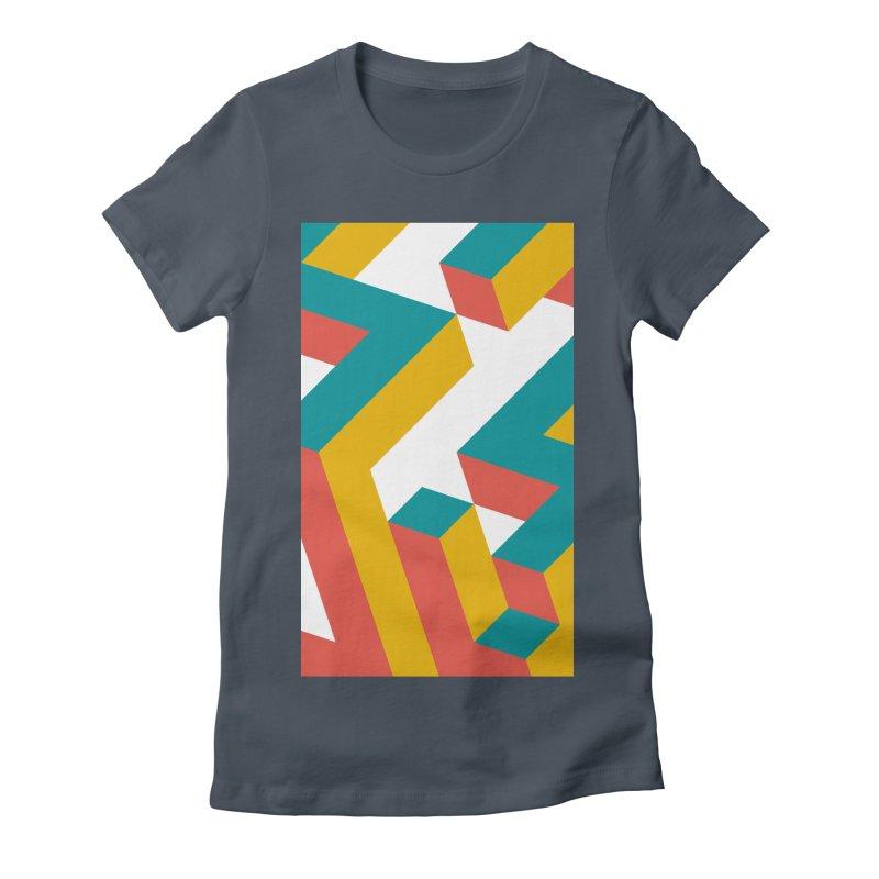 Geometric Design Series 1, Poster 2 Women's T-Shirt by Madeleine Hettich Design & Illustration