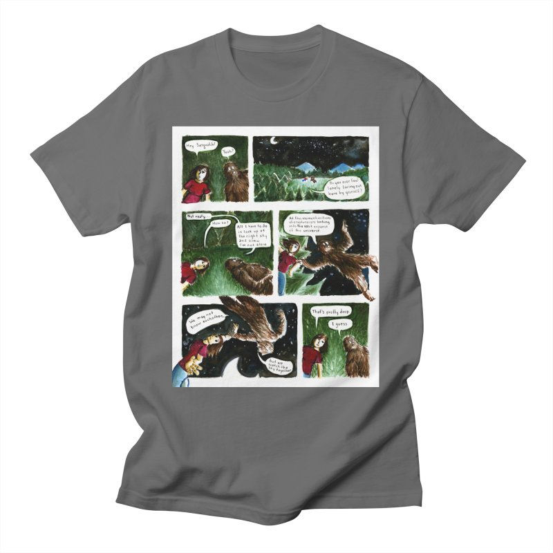 Thoughts With Sasquatch Comic Men's T-Shirt by Madeleine Hettich Design & Illustration
