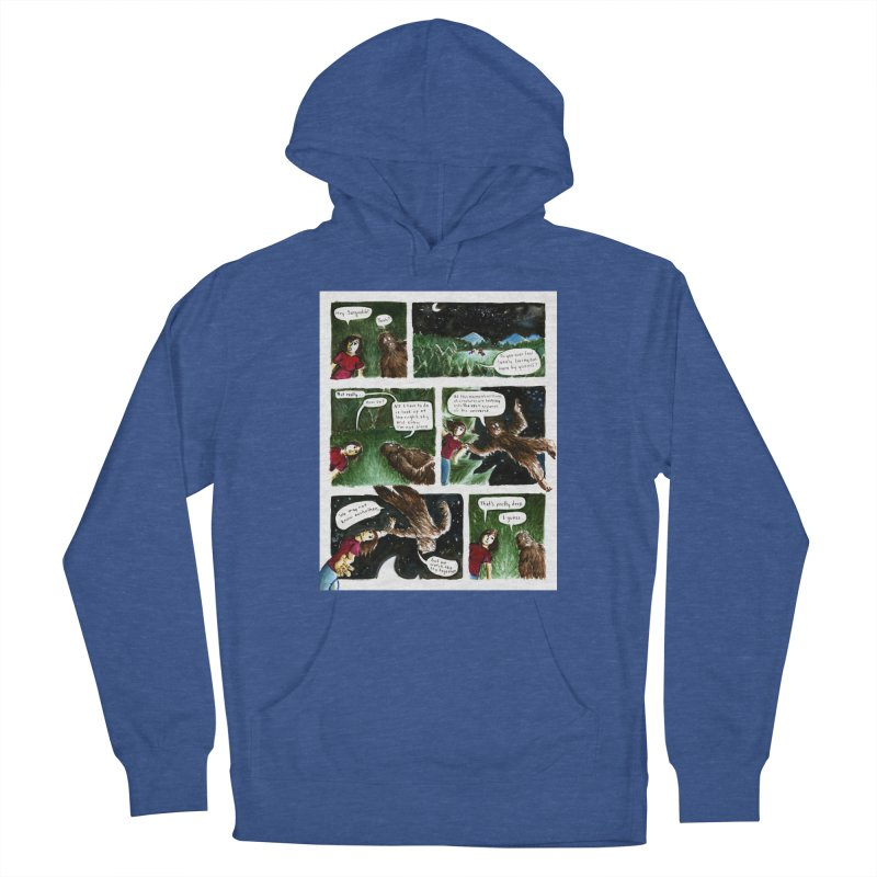 Thoughts With Sasquatch Comic Men's Pullover Hoody by Madeleine Hettich Design & Illustration